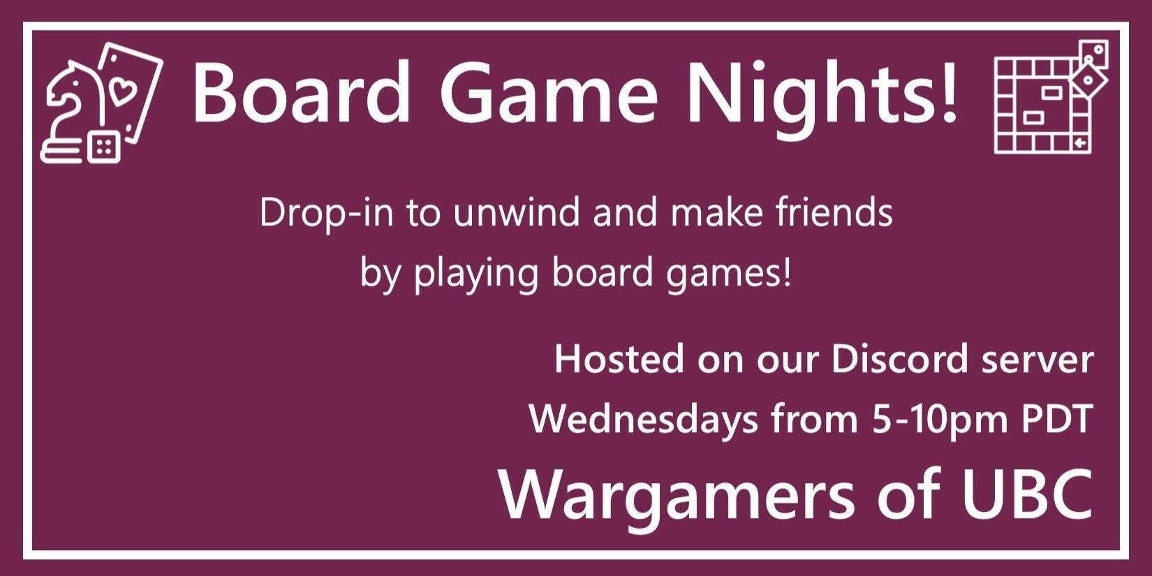 Wednesday Board Game Nights
